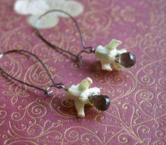 Bones of Nimh earrings. Summer 2010