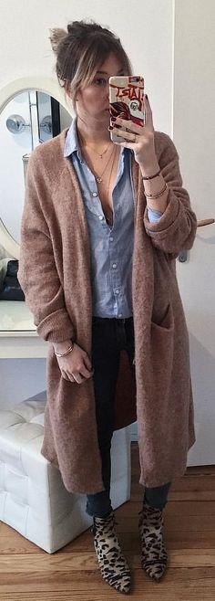 #winter #outfits Gros Gilet & Boots Préférées #ootd #wiwt #tapfortags Gilet & Jean #Zara Chemise #hetm Boots #shopaudreylbd
