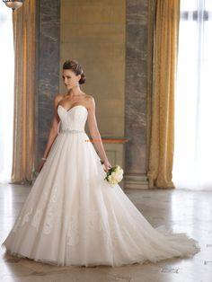Robe de mariée princesse avec bustier col en coeur