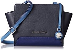 Armani Jeans Printed Eco Leather Crossbody Blue >>> Find out more about the great product at the image link.