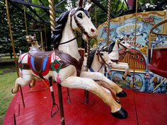 NYC hosts Fête Paradiso, a festival of vintage French carnival rides Like Fine Wine, Carnival Rides, Weird World, First World, French Vintage, Fair Grounds, Nyc, Carnivals, Horses