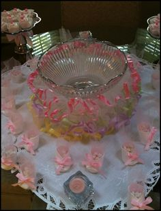 Cute Baby Shower Idea and homemade booties from styrofoam cups!   My ALL time FAVORITE!!!!!