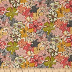 Liberty of London Classic Tana Lawn Wild Flowers Mauvey Cream/Pink from @fabricdotcom  From the world famous Liberty Of London, this exquisite cotton lawn fabric is finely woven, light weight and ultra soft. This gorgeous fabric is oh so perfect for flirty blouses, dresses, lingerie, tunics, tops and more. Colors include rose, grey, sage, goldenrod, cream, coral, and peach.