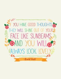 roald dahl quote // Art Print // Colorful Nursery Art. $16.00, via Etsy.