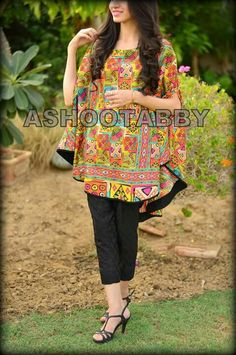 for this Tailer fit designer wear Pakistani Fashion Casual, Pakistani Dresses Casual, Pakistani Dress Design, Stylish Dresses For Girls, Simple Dresses, Casual Dresses, Frock Fashion, Fashion Dresses, Ladies Fashion
