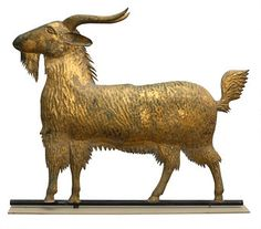 This Goat weathervane, by an unknown maker, 1875–1900, likely adorned a farm building.