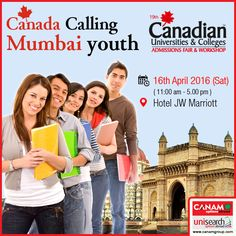 #CanamConsultants team will be in Mumbai tomorrow bringing their rich experience and exclusive #CanadaEducation_Workshop so that your #CanadaEducation dreams come true! All that you need to do is register. Hurry, only limited seats available so be the first one to work on your  #OverseasEducation dreams with the #Best_Immigration_Consultancy!  For complete information & enrolment, Contact CANAM on - 1800-200-5499 or Register Here http://canadaedufair.com/register.php?city=Mumbai