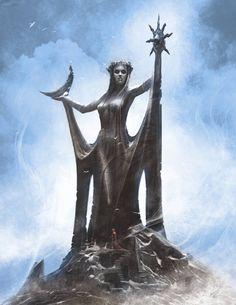 #ConceptArt of Azura from The Elder Scrolls V: #Skyrim by #RayLederer