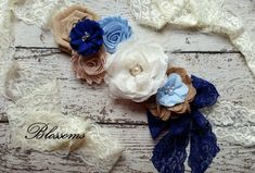 Beautiful BLUE Burlap Chiffon Flower Maternity Sash - Pregnancy Photo Prop - Baby Boy Sash - It's a Boy Maternity Belt - Belly Sash Maternity Photo Props, Maternity Belt, Burlap Lace, Burlap Flowers, Azul Real, Light Blue Flowers, Bridal Sash, Chiffon Flowers, Pregnancy Photos