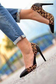 Zara Leopard Printed Cow Furskin Heels - Beautiful Wardrobe Zara Heels, Stiletto Heels, Cow, Sandals, Prints, Beautiful, Shoes, Style, Fashion