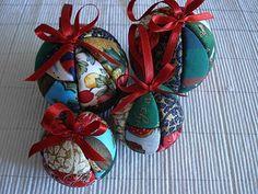 Bolas de Natal - pachtwork em esferovite