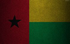 Download wallpapers Flag of Guinea-Bissau, leather texture, 4k, Africa, world flags, African flags, Guinea-Bissau