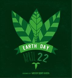Vector commemorating Earth Day, with hand-written text and leaves. This would look great as a poster, give it a try!