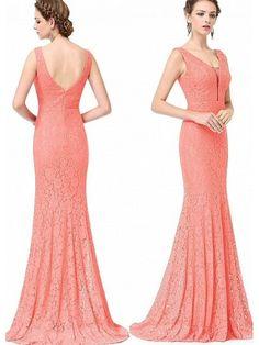 Rochie lunga din dantela florala somon Larisa Formal Dresses, Floral, Fashion, Dresses For Formal, Moda, Formal Gowns, Fashion Styles, Flowers, Formal Dress