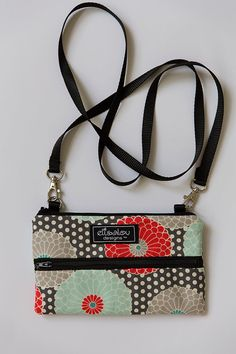 Padded  Mini Purse Crossbody Mums by ElisaLou on Etsy