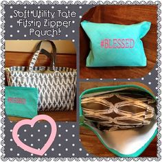 Soft Utility Tote and Zipper Pouch!