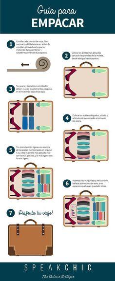 Que en tu maleta quepa todo lo que quieras llevar es casi un arte y te lo queremos compartir