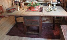 rustic kitchen/dining table