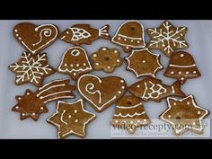 Medové perníčky - videorecept Gingerbread Cookies, Christmas Cookies, Sweets, Desserts, Food, Google, Youtube, Gingerbread Cupcakes, Xmas Cookies