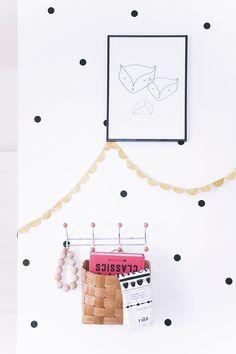 DIY christmas pendant // fox print from kaunisdecoration.com