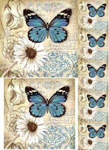 55 LAMINAS DECOUPAGE ARTE2 Rice Paper Decoupage, Napkin Decoupage, Decoupage Vintage, Decoupage Paper, Butterfly Painting, Butterfly Art, Butterflies, Vintage Labels, Vintage Ephemera