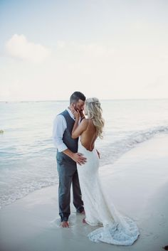 """Sandy white beaches are the perfect place to say """"I do"""" http://www.stylemepretty.com/2016/11/02/your-perfect-destination-wedding-in-1-2-3/ #sponsored"""