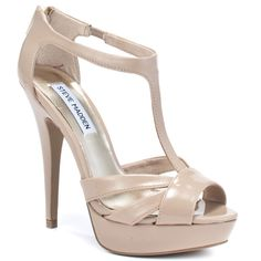 Shop Women's Steve Madden Tan Cream size Heels at a discounted price at Poshmark. Some small scuffs but still in good condition. Blush Shoes, Shoe Boots, Shoes Heels, High Heels, Colorful Heels, Patent Heels, Pumps, Kinds Of Shoes, Shoe Dazzle