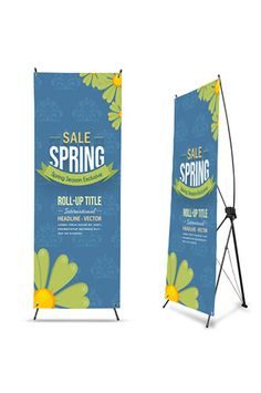 PMROXS Impact Promotional Vertical Banner With Stand 27x75