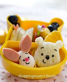 10 creative bento lunch box ideas. Pooh Bear & Piglet.