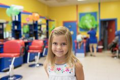 Capitol Mama shares her little girls' back-to-school haircuts at Cartoon Cuts in Congressional Plaza