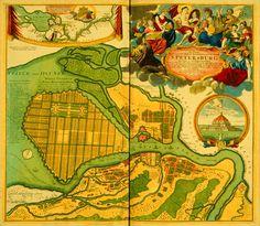1731. Map of Saint-Petersburg