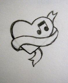 music_heart_tattoo_by_nohimase.jpg × - music_heart_tattoo_by_nohimase. Easy Pencil Drawings, Mini Drawings, Girl Drawing Sketches, Cute Easy Drawings, Art Drawings Sketches Simple, Girly Drawings, Easy Heart Drawings, Drawing Ideas, Drawings Of Hearts