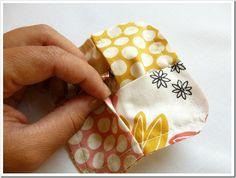 fabric block coasters