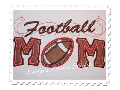 Football  Mom Applique with a Twist by KatelynsKreativeS on Etsy, $5.99