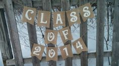 Class of 2014 Burlap Banner  Graduation Party by TheRusticChicBtqe, $33.99