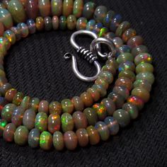 52 cts 17 4 7 mm Natural Eathiopian Opal RARE Quality Gemstones Beads Necklace   eBay