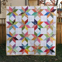 All you need are half square triangles and a design board and scraps for this quilt