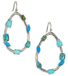 IPPOLITA 925 Rock Candy Large Turquoise Teardrop Earrings. Turquoise jewelry. I'm an affiliate marketer. When you click on a link or buy from the retailer, I earn a commission.
