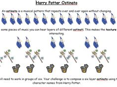 Harry Potter Ostinato simple & fun!  could change to super hero theme or whatever is popular w/the kiddos!
