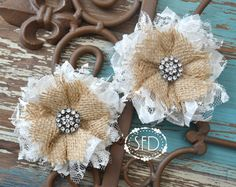 Burlap, Lace and a Bit of Bling by Caydi Zerega on Etsy