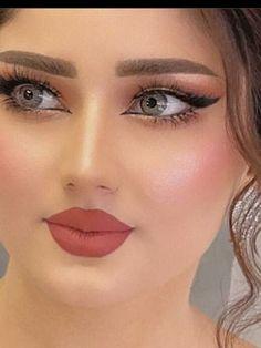 Beautiful Arab Women, Beautiful Eyes, Cute Girl Photo, Beautiful Girl Photo, Elegant Makeup, Wedding Makeup Looks, Girl Photos, Cute Girls, Marie