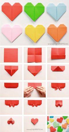 Como Fazer Origami Passo a Passo Kids Origami Easy, Origami Butterfly Easy, Simple Origami, Origami Ideas, How To Make Origami, Diy Origami, Papel Origami, Origami Garland, Origami Flower