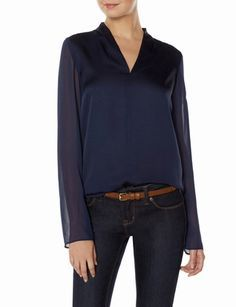 Sheer Sleeve Blouse from THELIMITED.com #ItsTime #TheLimited