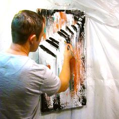 Mind Blowing Acrylic Abstract Art Painting Video Lessons and Online Tutorials by Peter Dranitsin