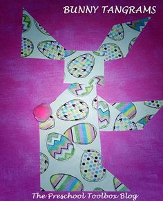Critical Thinking: Tangram Bunny Crafts for Preschool & Kindergarten - The Preschool Toolbox Blog