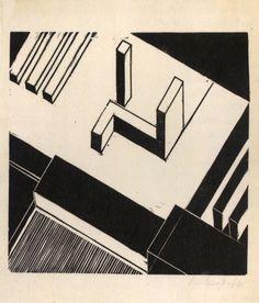 Farkas Molnár, Architecture Fantasy, 1924