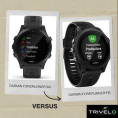 Garmin forerunner 945 versus 935. Triathlon Watch, Ironman Triathlon, Pixel Color, Gps Tracking, How To Slim Down, Sport Watches, Smart Watch, Athlete, Smartwatch