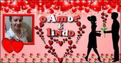 """Moldurinha com foto do seu perfil + frase """"O Amor é Lindo"""""""
