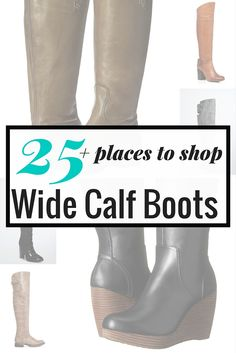 25 places to shop wide calf boots on TheCurvyFashionista.com #TCFStyle