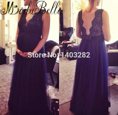 Navy Blue Plus Size Pregnant Women Evening Dresses Long 2017 Beaded Sheer Maternity Ladies Formal Evening Gowns Dinner Dresses